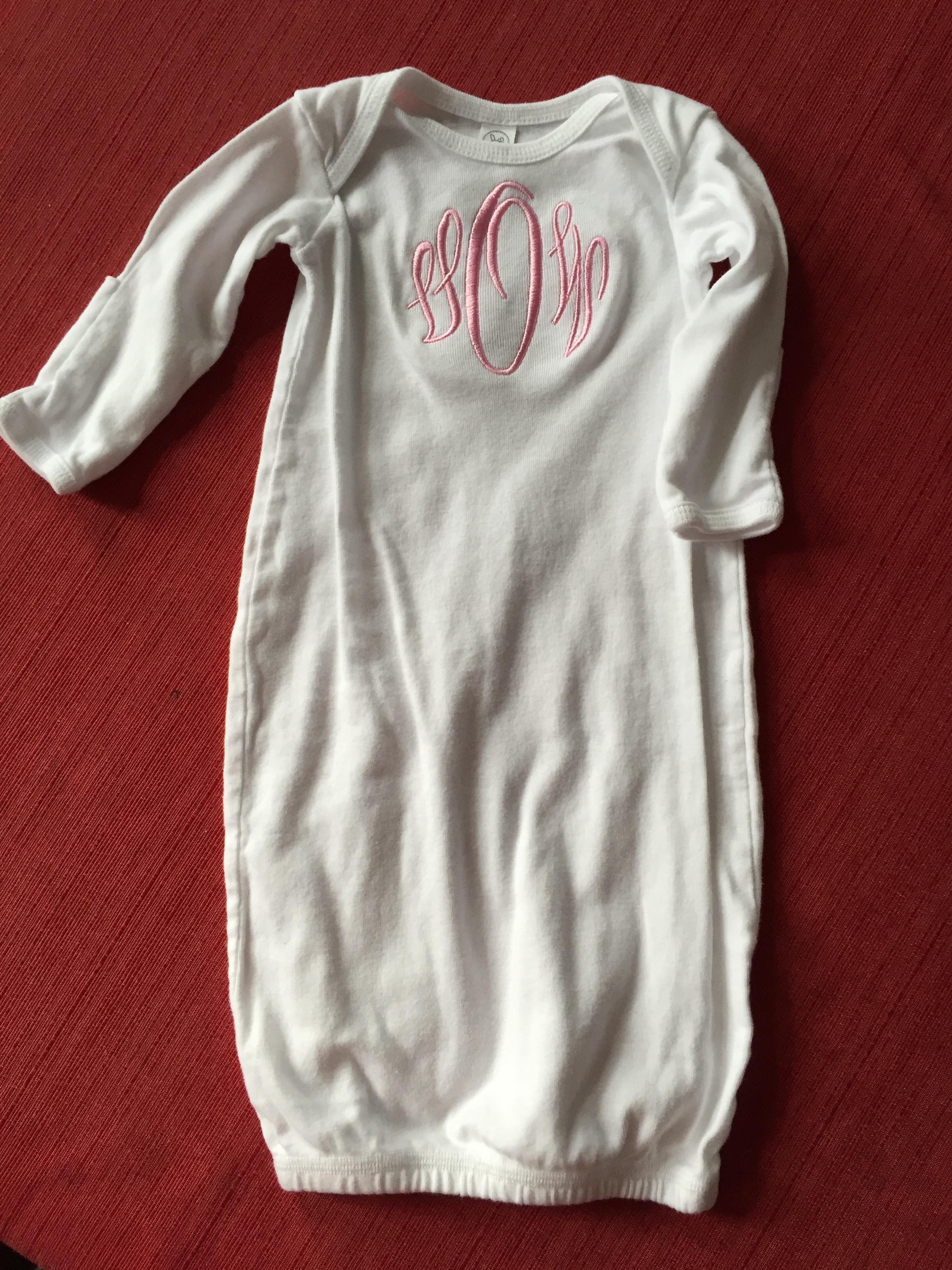 Layette Gown : Mama B\'s Monograms